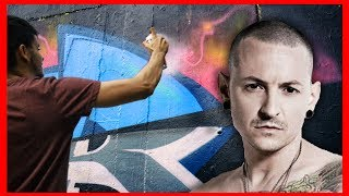 Rest in peace Chester. Linkin Park is my all time favourite musican band I am so sad about Chester... I decided to make a graffiti painting on a wall for him. At least everything what they have done together remains. ●●●●●●●●●●●●●●●●●●●●●●●●●●●●●●●●●●●My Art supplies:1. Markers: http://amzn.to/2sdrkAg2. Markers: http://amzn.to/2sdjbMiPainting Mask: http://amzn.to/2rCKYXEMy Tech gear:Drone: http://amzn.to/2sF1sP2Camera: http://amzn.to/2rrQus2POV Camera: http://amzn.to/2rDlRnwComputer: http://amzn.to/2sL5iWu●●●●●●●●●●●●●●●●●●●●●●●●●●●●●●●●●●●MY SHOP: http://doke.bigcartel.com/●●●●●●●●●●●●●●●●●●●●●●●●●●●●●●●●●●●FOLLOW ME:Facebook : http://on.fb.me/1NK2053Instagram : http://bit.ly/21aOj9n●●●●●●●●●●●●●●●●●●●●●●●●●●●●●●●●●●●●CONTACT ME:Email : doketv.info@gmail.com●●●●●●●●●●●●●●●●●●●●●●●●●●●●●●●●●●●●SEND ME SOMETHING:Martin HirnerP.O.BOX 1285003, Bratislava 53●●●●●●●●●●●●●●●●●●●●●●●●●●●●●●●●●●●●MUSIC :http://bit.ly/1l3zpKdSONG: https://www.youtube.com/watch?v=nwfy4Eq9o1Y[Drivvin]• https://soundcloud.com/drivvin• https://www.facebook.com/drivvin• https://twitter.com/drivvin[Holly]• https://soundcloud.com/hollyhollys• https://www.facebook.com/beatsbyhollyLinkin Park songs: Heavy: https://www.youtube.com/watch?v=5dmQ3QWpy1QCrawling: https://www.youtube.com/watch?v=Gd9OhYroLN0In the end: https://www.youtube.com/watch?v=eVTXPUF4Oz4Numb: https://www.youtube.com/watch?v=kXYiU_JCYtUGood Goodbye: https://www.youtube.com/watch?v=phVQZrb2AdA