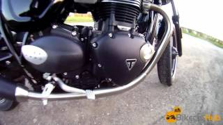 10. The sound of the 900cc Triumph Bonneville engine used in the Street Twin, Street Cup and T100 bikes