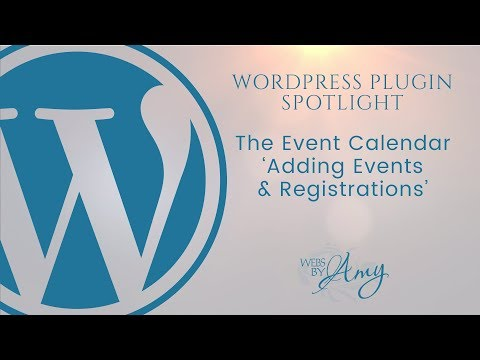 WordPress Plugin - The Event Calendar
