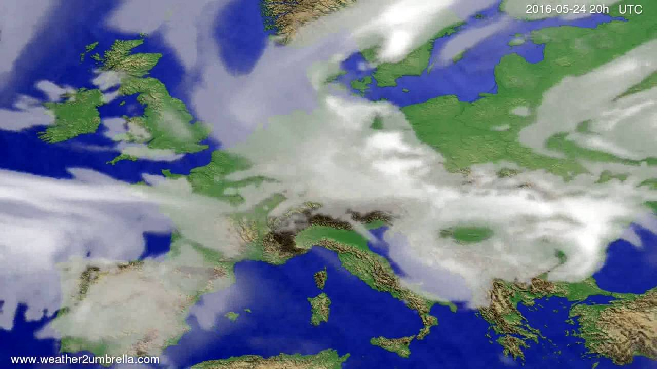 Cloud forecast Europe 2016-05-22