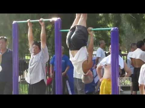 grandparents - It's amazing to watch these Chinese grandparents work up a sweat and get fit in the park. You won't believe how flexible they are. Subscribe to HuffPost toda...