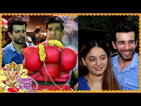 Jay Bhanushali And Mahhi Vij SPOTTED At Ganpati Vi