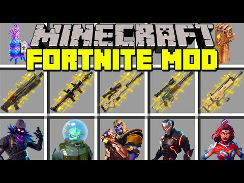 Minecraft FORTNITE MOD l THANOS, NEW WEAPONS, SKINS & SEASON 4 l Modded Mini-Game (Education) (видео)