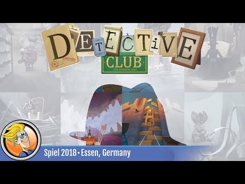 Detective Club — game overview at SPIEL '18