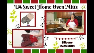 "Join Amy as she reviews the LA Sweet Home Oven Mitts. These mitts are adorable and are available in several different colors. The mitt is cloth with a non-slip silicone grip. They are great for taking hot food out of the oven as well as for the BBQ or grill.LA Sweet Home Oven Mitts:Khaki: http://amzn.to/2vzg80HRed:  http://amzn.to/2fDqXelPurple: http://amzn.to/2fCbMlMBlue: http://amzn.to/2fCEOkZGreen: http://amzn.to/2vzuEWkAmy Learns to Cook is all about learning to make simple, tasty food from fresh ingredients.  One year ago, I made a commitment to stop eating processed convenience foods.  I decided to learn to cook ""real"" food. Join me!  Let's learn to cook together! Enjoy! Please share! Please SUBSCRIBE to my channel, LIKE, and leave a COMMENT.Please visit my website: www.amylearnstocook.comAny links in this description, including Amazon, are affiliate links.I received this product free of charge in exchange for my honest review."