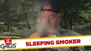 Sleeping Smoker is Smoking