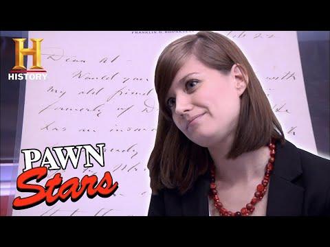 Rebecca's ROUGH DEAL for RARE Roosevelt Letter | Pawn Stars (Season 7) | History