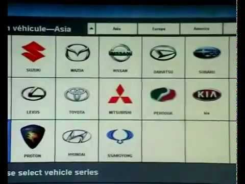 Demo vcs vehicle communication scanner interface operation video car autocom