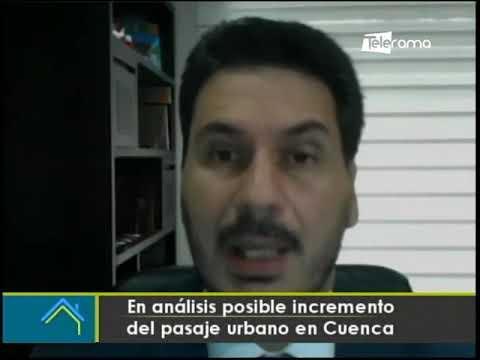 En análisis posible incremento del pasaje urbano en Cuenca