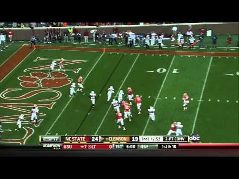 Tajh Boyd vs North Carolina St. 2012 video.