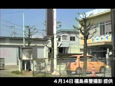 県警による浪江町請戸地区での捜索(4月14日)[14]