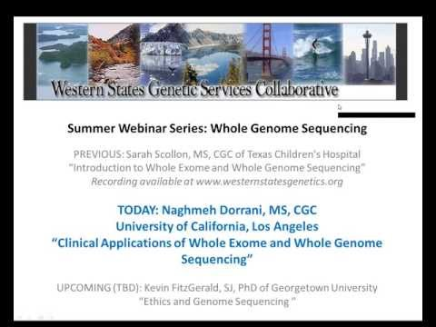 Clinical Applications of Whole Exome and Whole Genome Sequencing