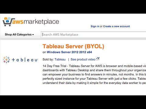 Tableau Server on the Amazon Web Services Marketplace