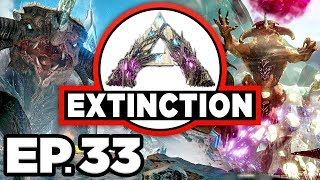 ARK: Extinction Ep.33 - TITAN DINOSAURS & CAVE RESEARCH, CROP GARDENER!! (Modded Dinosaurs Gameplay)