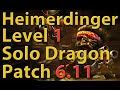 League of Legends: Heimerdinger Level 1 Solo Dragon Season 6 (Patch 6.11)