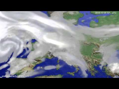 Cloud forecast Europe 2015-10-02