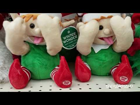 Big Lots Christmas , Silly Face Elf, Dancing snoopy Gemmy industries 2017
