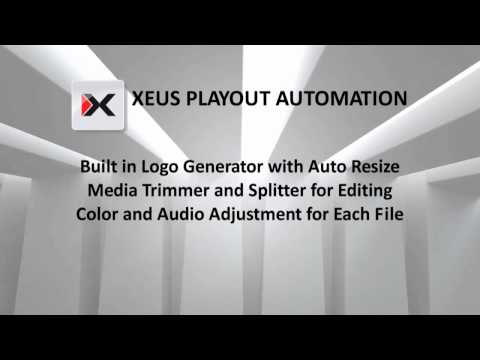 Xeus Playout ( Professional Broadcast Automation Software ) SD / HD / 2K / 4K / 3D / IP