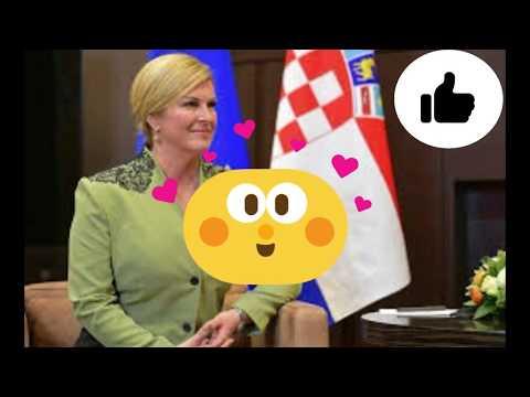 Croatian President Kolinda Grabar-Kitarović is head over hills over internet