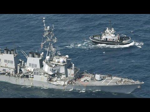 Σύγκρουση αντιτορπιλικού των ΗΠΑ με φορτηγό πλοίο