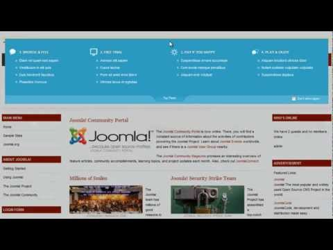 Joomla! 1.7 - JA Top panel module