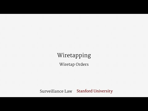 Wiretapping (Wiretap Orders)