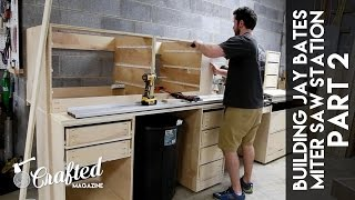 Building the Jay Bates Miter Saw Station Part 2 | Crafted Workshop