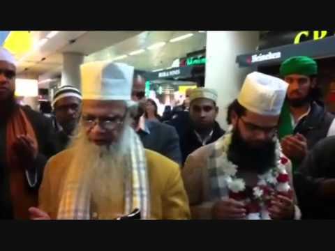 Arrival At Netherlands Airport Huzur syed hashmi miya & Huzur syed noorani miya