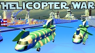 Minecraft War | HELICOPTER WARS - Apache Helicopters&Aircraft Carriers!