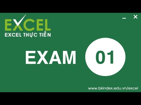 [BKIndex][Excel thực tiễn] HDG CĐ 01: Giới thiệu Excel qua các thao tác cơ bản