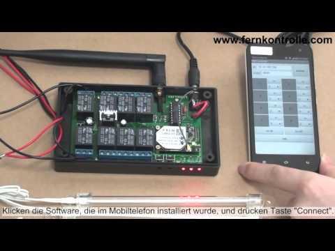 WF8-1R WIFI Controller funk Fernbedienung der Leuchtröhren per WLAN