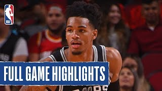 SPURS at ROCKETS | LaMarcus Aldridge and Dejounte Murray Combine for 42 | 2019 NBA Preseason by NBA