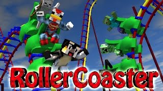 Minecraft | ROLLER COASTER CHALLENGE - Roller Coaster Disasters! (Rollercoaster Mod)