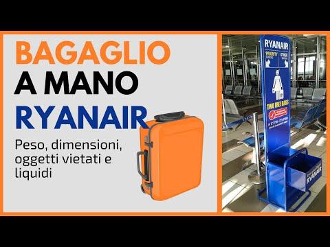 Bagaglio a Mano Ryanair | Misure, peso, oggetti vietati e liquidi