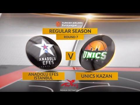 EuroLeague Highlights RS Round 7: Anadolu Efes Istanbul 104-99 Unics Kazan