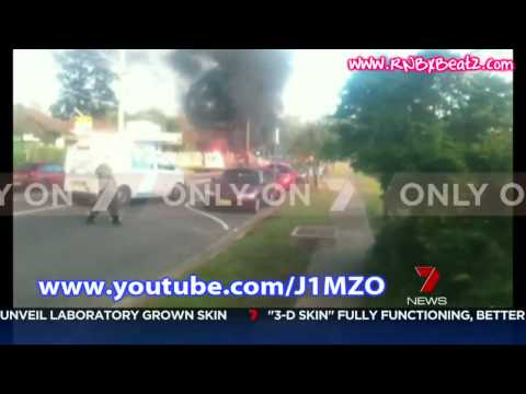 Canley Vale Plane Crash Explosion Footage (15th June 2010) - 7 News