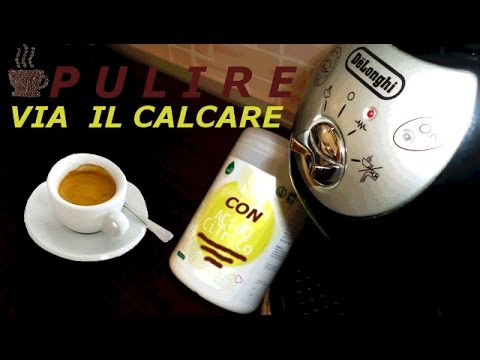 Pulizia Macchina del Caffè dal calcare e residui di erogazione