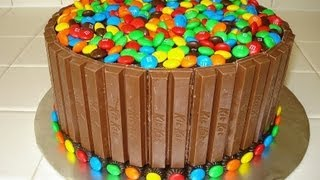 Kit Kat & M&M Cake - HOW TO VIDEO - YouTube