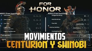 GAMEPLAY Y COMBOS DE CENTURION Y SHINOBI | FOR HONOR ESPAÑOL