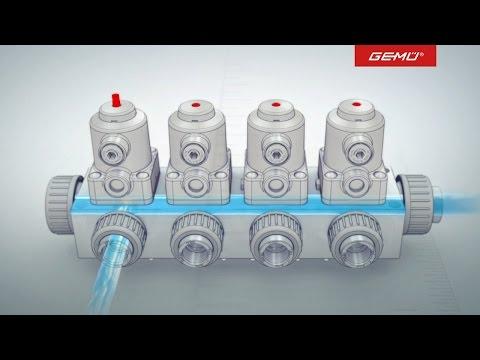 GEMU Plastic Multi-port valve block