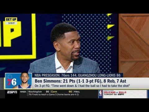 ESPN GET UP   Jalen Rose on Ben Simmons:21 Pts (1-1 3-pt FG), 8 Reb, 7 Ast