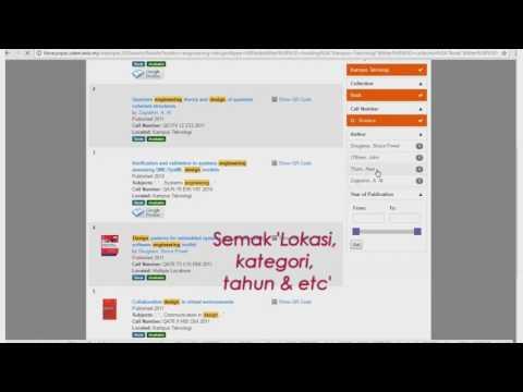 Web OPAC 2 0 : Tatacara Pencarian Bahan