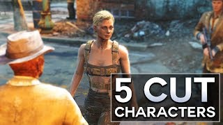 So because Hancock is gone, does that mean you're single?..  Here, I list 5 Cut Characters in Fallout 4.  These all count as cut content, and some even lead to cut weapons.  I also do other Top 5s, like Fallout 4 secrets.  There are secret locations, even secret enemies and quests to be found.  Which usually lead to weird theories, or your own fan theory.Since I'm now on PC, I love the Fallout 4 new mods.  There are quest mods and companion mods that are outstanding.  They definitely make creating character builds, or finding rare encounters, or even sad deaths, a lot more fun.Please like, comment, and subscribe, and if you want to talk, my other social media is below : )https://www.instagram.com/graenolfhttps://www.facebook.com/graenolf