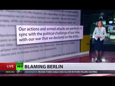 Extremist Greek group vows attacks on German firms, blaming Berlin for crisis