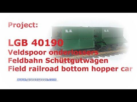 LGB 40190 Veldspoor onderlossers / Feldbahn Schüttgutwagen / Field railroad bottom hopper car