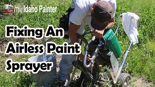Fixing an airless paint sprayer in the field that is not priming properly.  Paint sprayer is clogged with paint film.Some of my favorite sprayer accessories: Graco 395 airless sprayer:  http://amzn.to/2koAmbjGraco contractor gun:  http://amzn.to/2l6KGSzGraco 50' airless spray hose: http://amzn.to/2kIrkSAGraco gun whip: http://amzn.to/2lftsEMGraco gun extension: http://amzn.to/2kRl8KA Home improvement tips, tools, projects, hacks and more!  Oh, and how to paint a house for the DIY or professional painter.  You home repair headquarters.You can help support my channel by buying your tools and products in my Tool Store  http://theidahopainter.com/tool-store/My Paint Life paint wear is available in my shirt store: http://www.cafepress.com/idahopainterVisit me on Facebook for a chance to win a t-shirt.   https://www.facebook.com/theidahopainterThe Idaho Painter is brought to you by B&K Painting.  Visit us at http://www.idahopainter.comDisclaimer:Due to factors beyond the control of The Idaho Painter (or Chris Berry), I cannot guarantee against improper use or unauthorized modifications of this information. The Idaho Painter assumes no liability for property damage or injury incurred as a result of any of the information contained in this video. Use this information at your own risk. The Idaho Painter recommends safe practices when working on any structure and or with tools seen or implied in this video. Due to factors beyond the control of The Idaho Painter, no information contained in this video shall create any expressed or implied warranty or guarantee of any particular result. Any injury, damage, or loss that may result from use or improper use of these tools, equipment, or from the information contained in this video is the sole responsibility of the user and not The Idaho Painter.