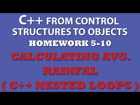 C++ Calculating Average Rainfall (Ex 5.10) Using Nested For Loops