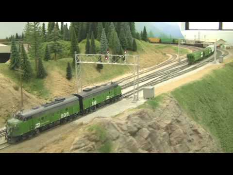 Awesome HO Scale BN Model Train Layout