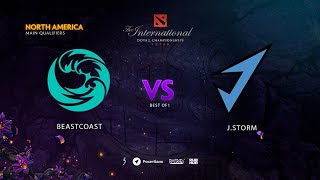 J.Storm vs beastcoast, TI9 Qualifiers NA, bo3, game1 [Mortalles Maelstorm]