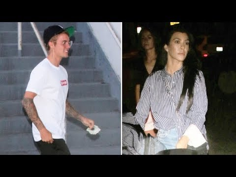 Re-Igniting Their Flame? Justin Bieber And Kourtney Kardashian Meet Up For Church Service